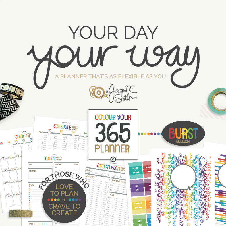 Colour Your 365 printable planner at www.byjacquiesmith.com