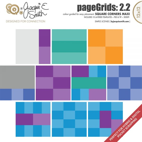 pageGrids Maxi 2.2 Square Corners by Jacqui E Smith