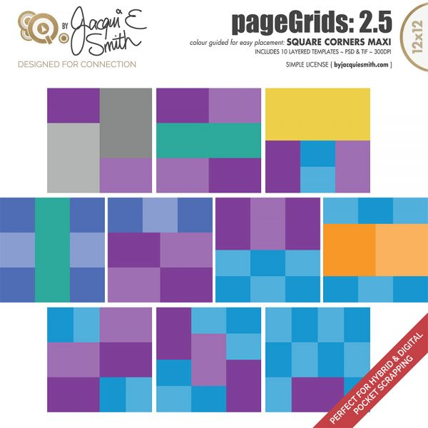 pageGrids Maxi 2.5 Square Corners by Jacqui E Smith