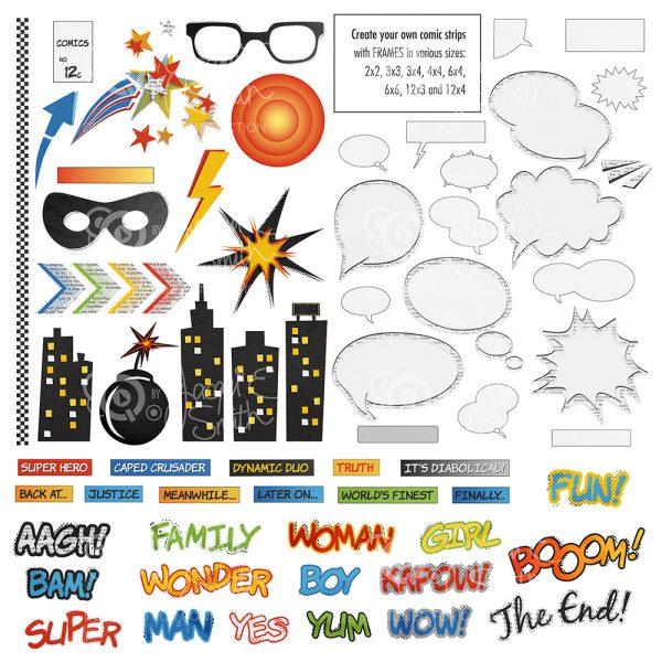 Comic Book elements preview by Jacqui E Smith