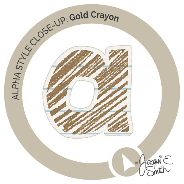 Gold Crayon alpha inset by Jacqui E Smith
