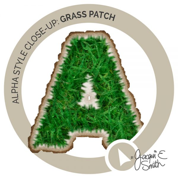 Grass Patch alpha insert by Jacqui E Smith