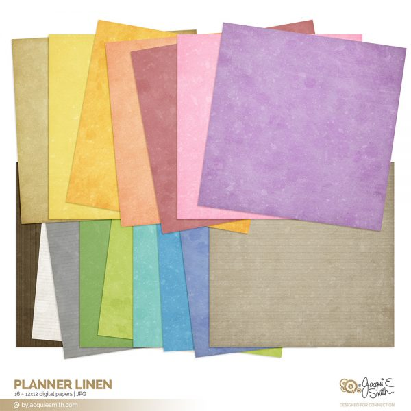 Planner Linen digital paper at www.byjacquiesmith.com
