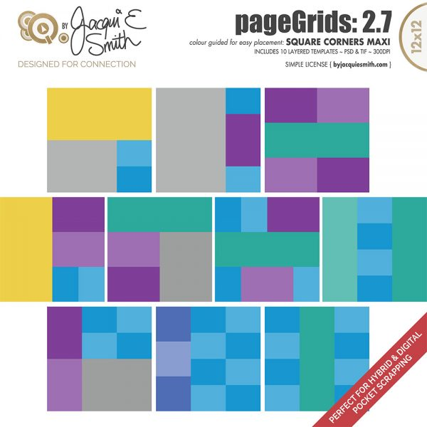 pageGrids Maxi 2.7 Square Corners by Jacqui E Smith
