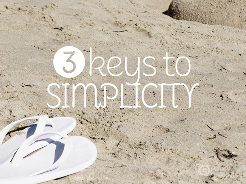 3 Keys to SImplicity by Jacqui E Smith