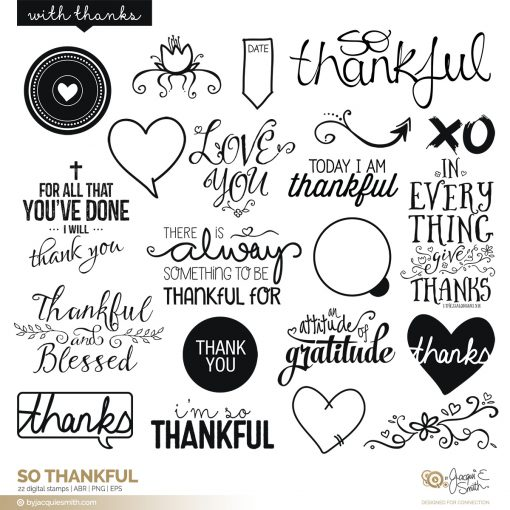 So Thankful digital stamps and brushes at byjacquiesmith.com