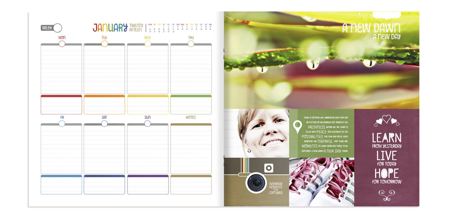 Combine Colour Your 365 Planner printables with Pocket pageGrids at byjacquiesmith.com
