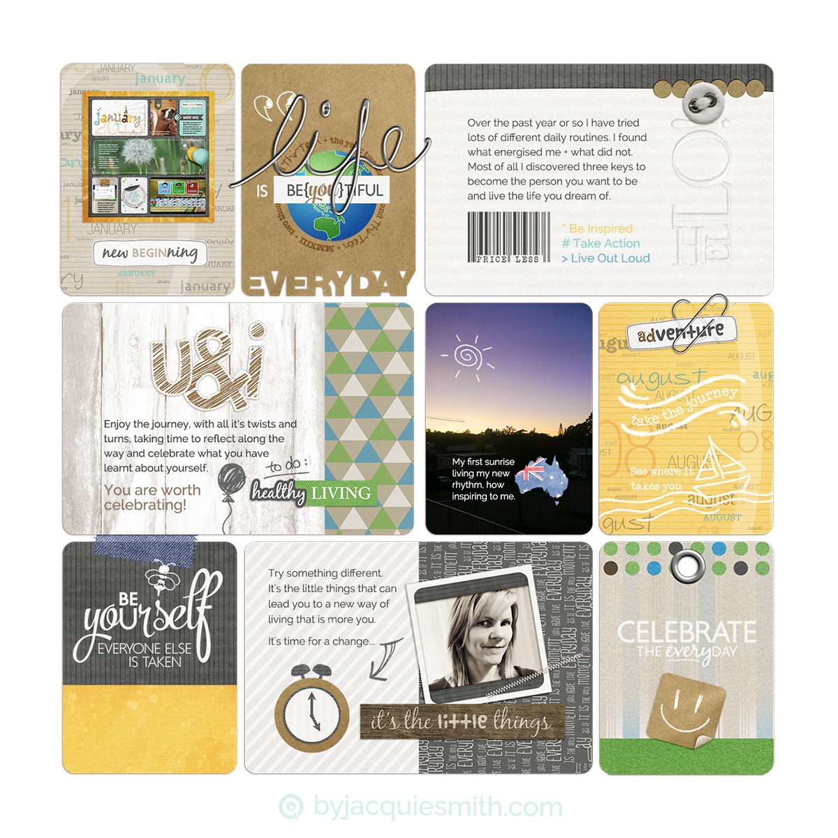 Pocket pageGrids, perfect for memory keeping + photo albums at byjacquiesmith.com
