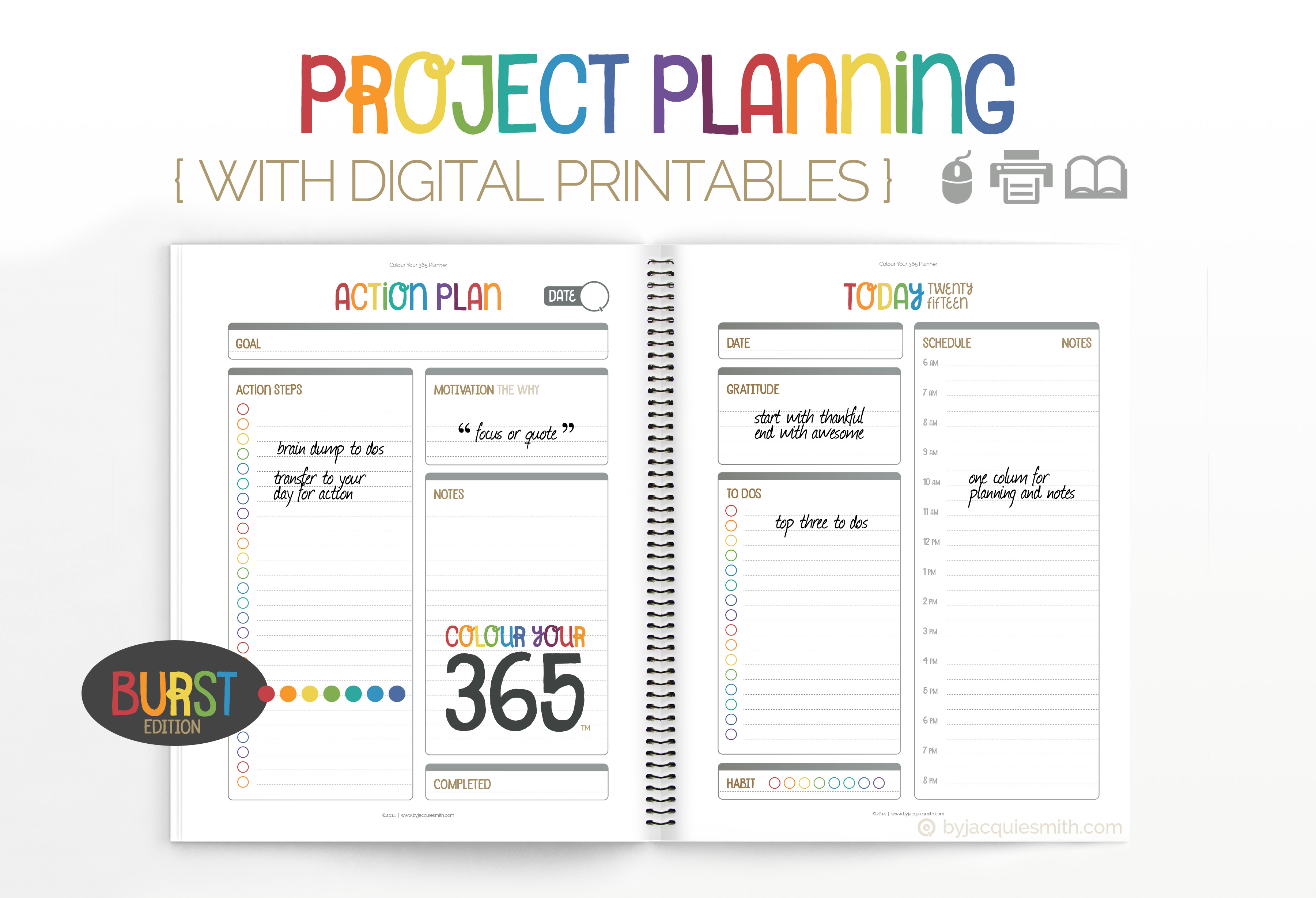 photograph regarding Printable Project Planner known as Challenge Coming up with with Electronic Printables byjacquiesmith