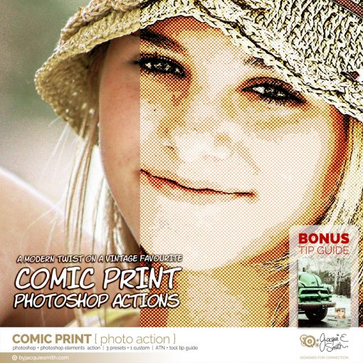 Comic Print photo action at byjacquiesmith.com