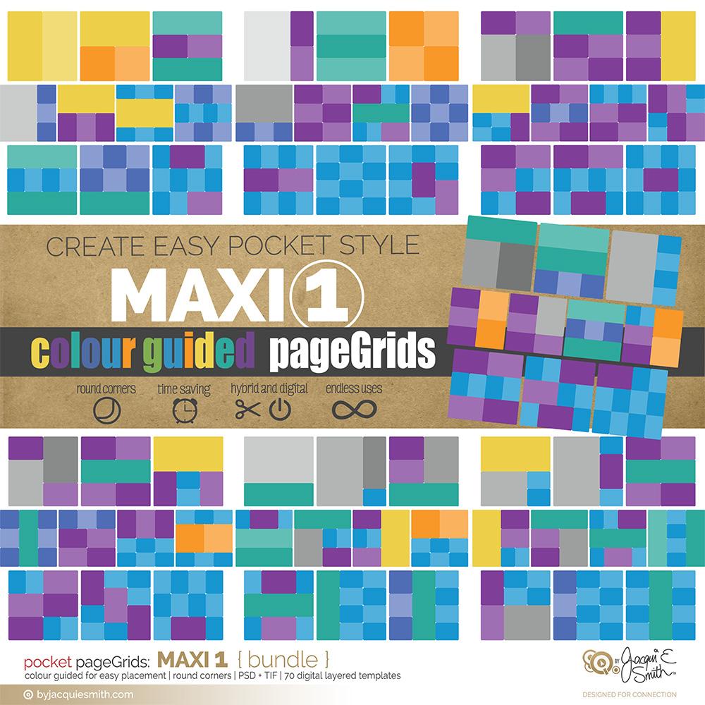 pageGrids Maxi 1 digital pocket templates at www.byjacquiesmith.com