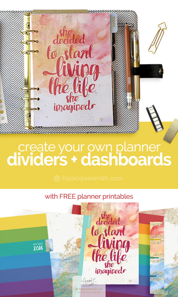 How to Make Planner Dividers and Dashboards at byjacquiesmith.com