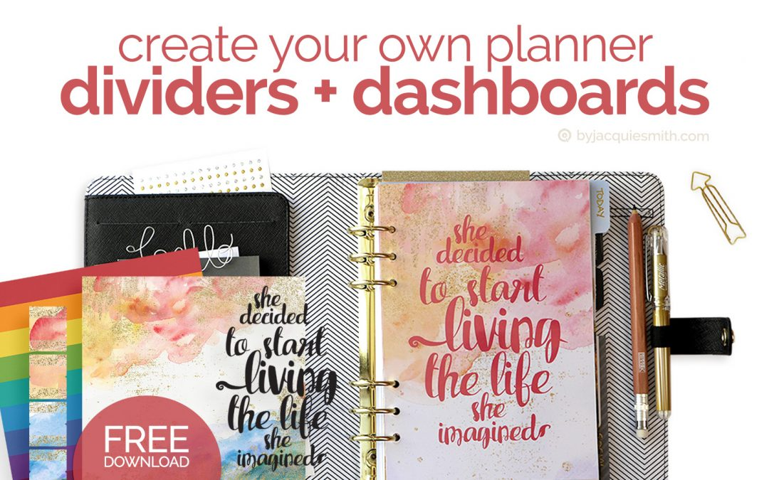 Customise Your Planner with Dividers + Dashboards