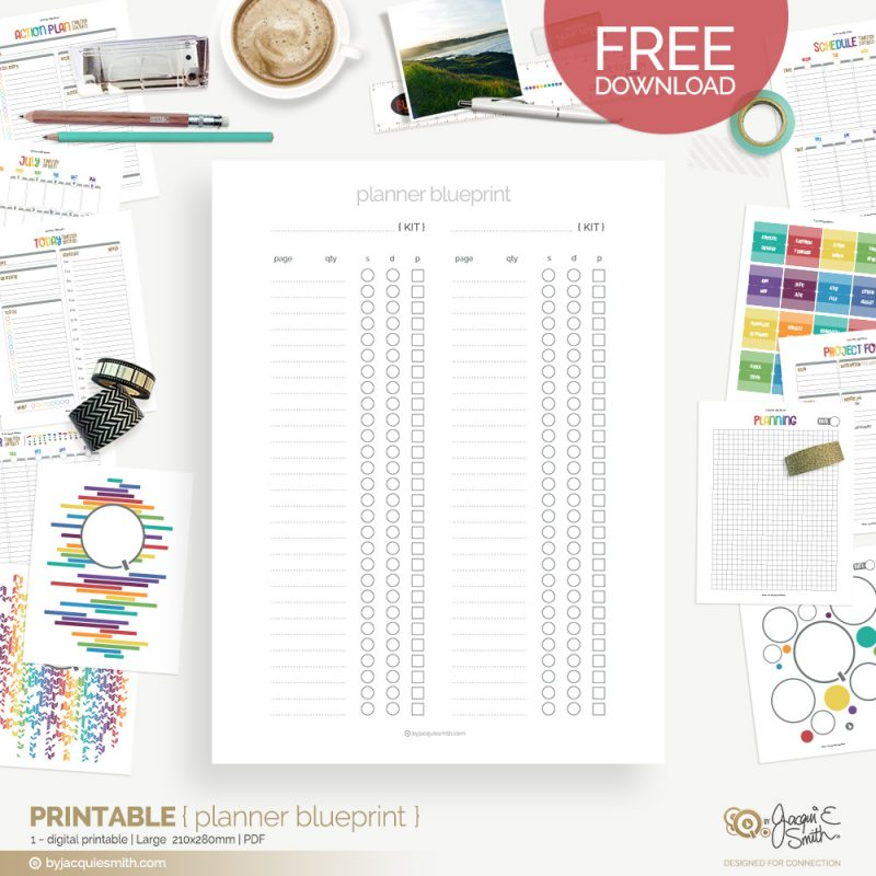 Planner Blueprint for Easy Planner Printing at www.byjacquiesmith.com