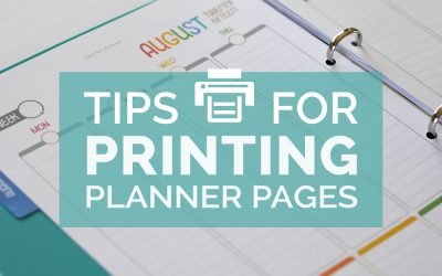 Tips for Printing Planner Pages