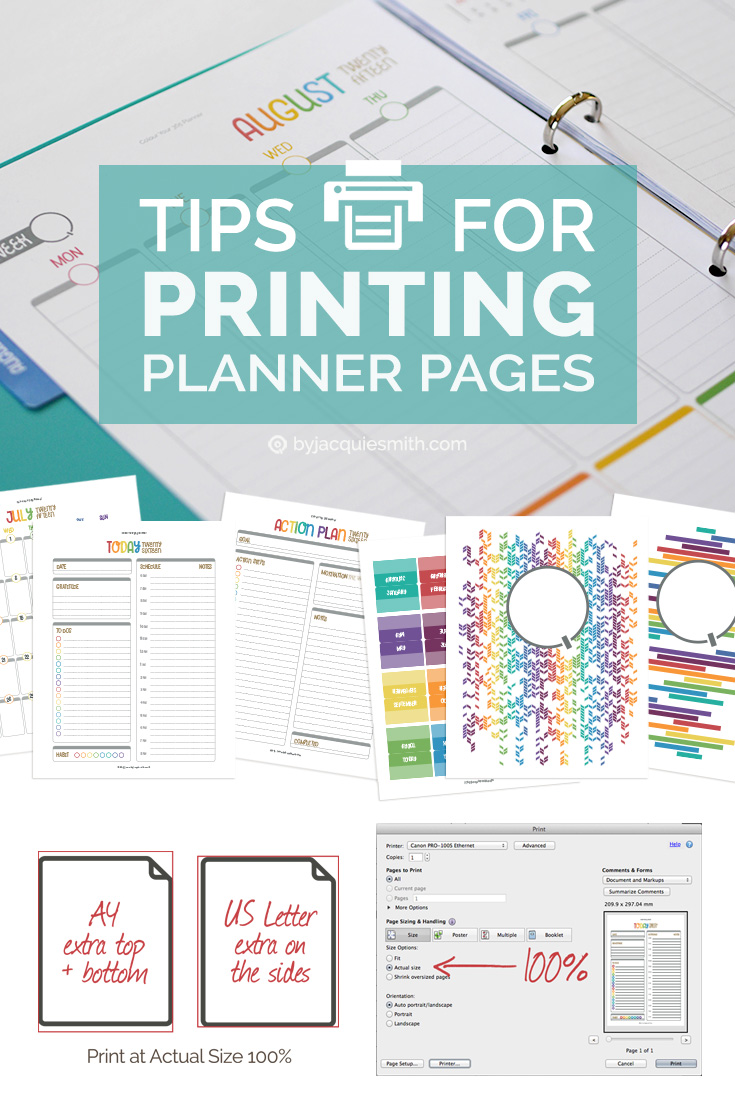 Tips for Printing Planner Pages at byjacquiesmith.com