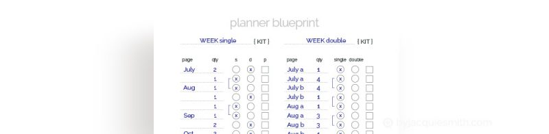 How to Organise Planner Pages for Printing at www.byjacquiesmith.com
