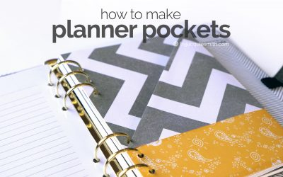 How to Make Planner Pockets