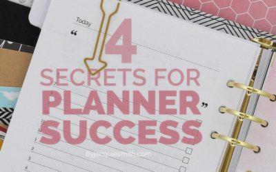 4 Secrets for Planner Success