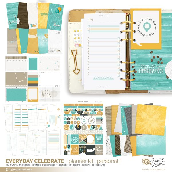 Everyday Celebrate planner printables : personal at byjacquiesmith.com