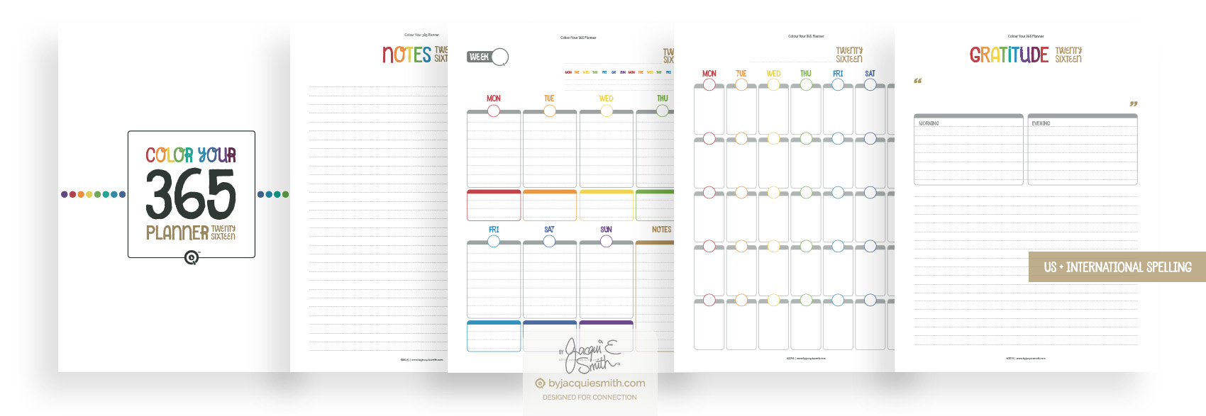 Colour Your 365 printable planner at byjacquiesmith.com