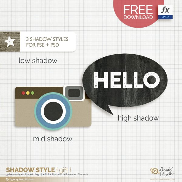 FREE photoshop and photoshop elements shadow style at byjacquiesmith.com
