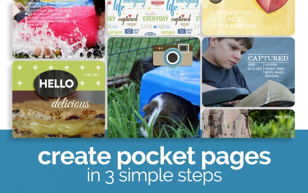 Pocket Scrapbooking in 3 Simple Steps