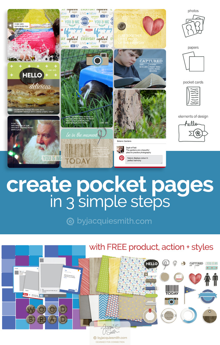 Pocket scrapbooking in 3 simple steps at byjacquiesmith.com