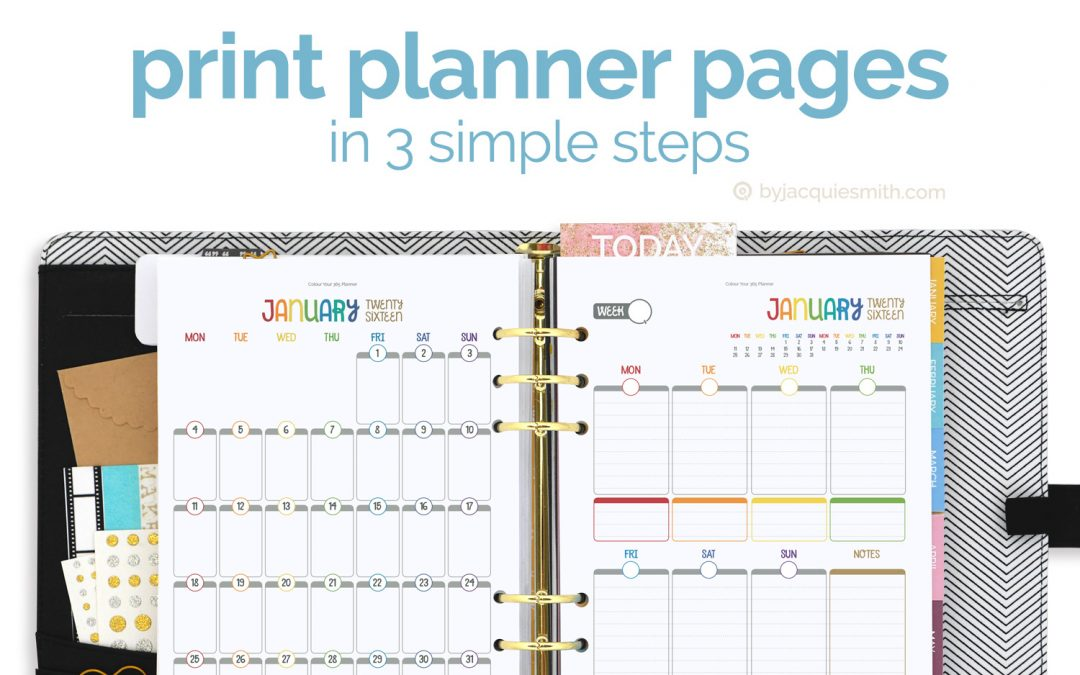 Print Planner Pages in 3 Simple Steps