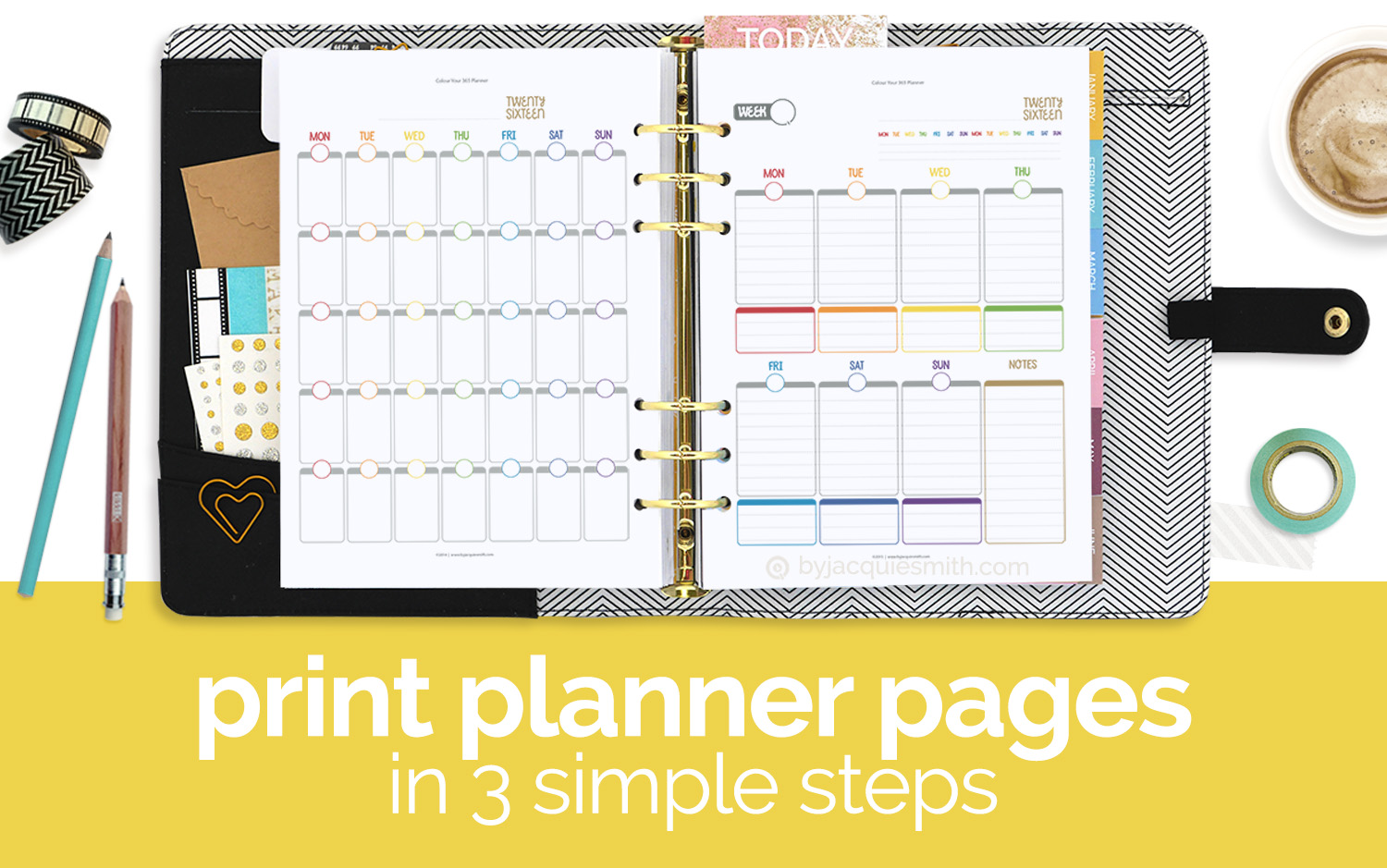 make and print your own custom planner by jacqui e smith