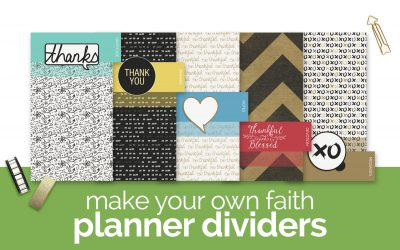 How to Make Faith Planner Dividers with Digital Craft Supplies
