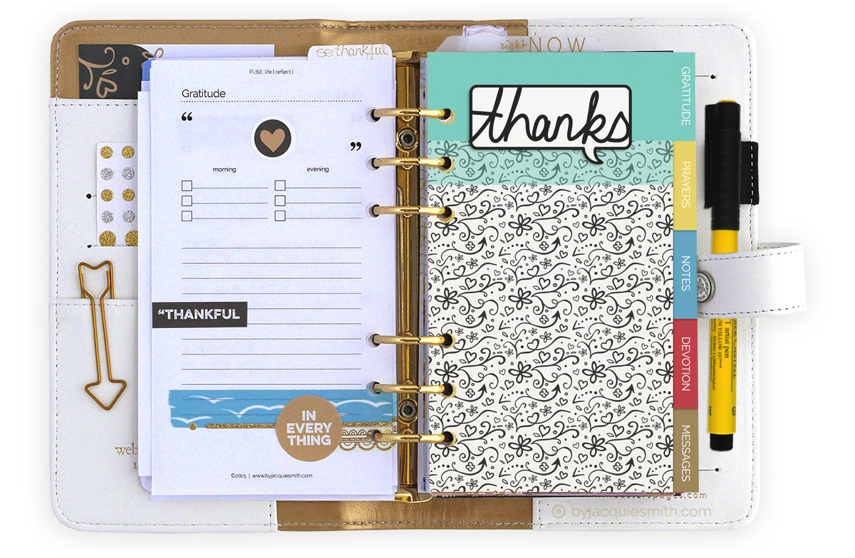 Make your own faith planner dividers with free planner printables at byjacquiesmith.com