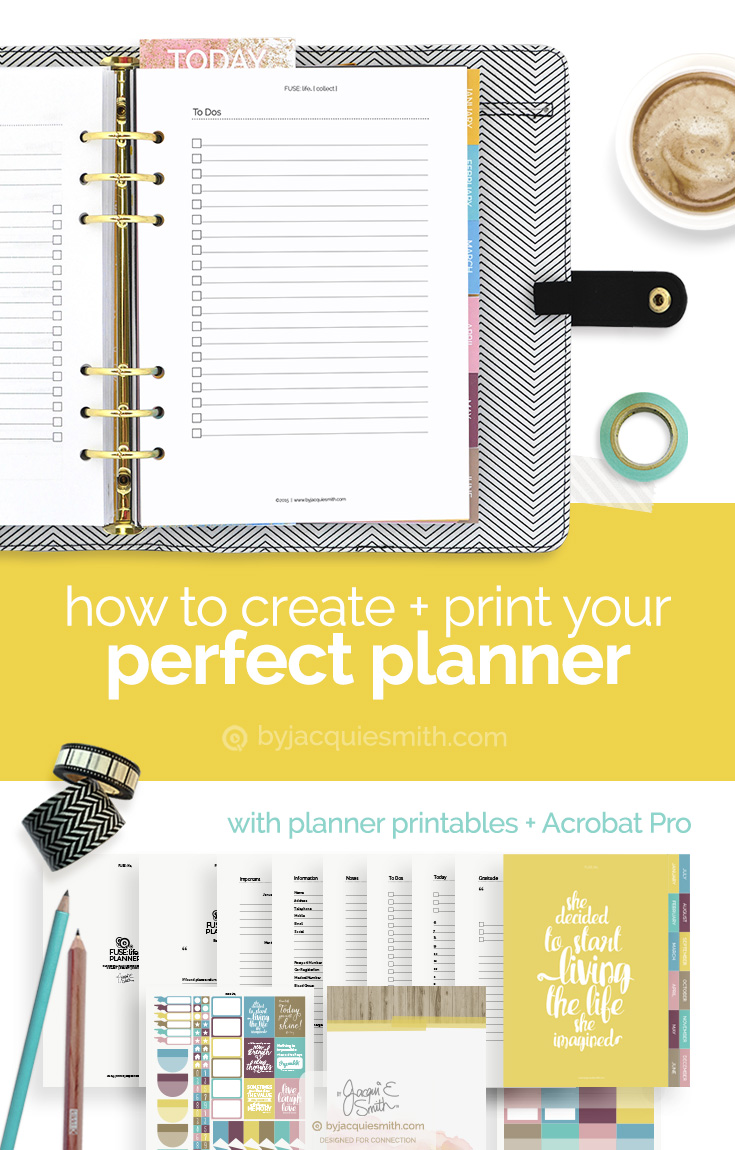 Make and print your own custom planner byjacquiesmith for Create my own planner