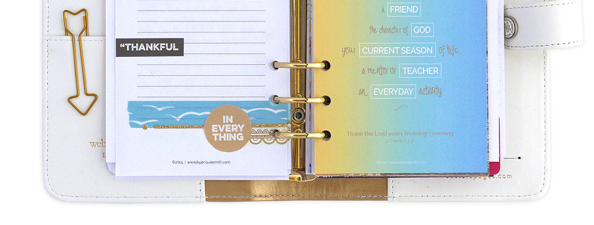 Set up your own gratitude journal with free planner printables at byjacquiesmith.com