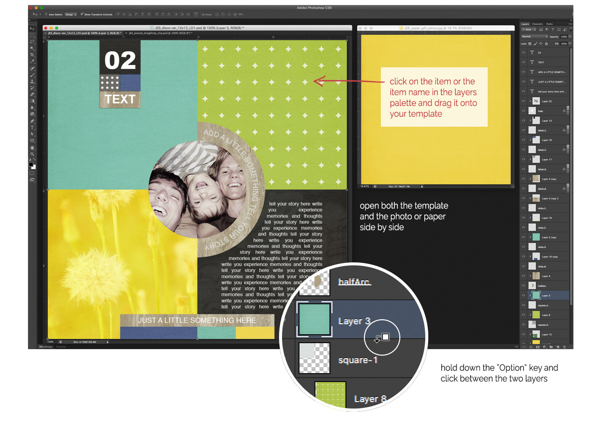 Create with digital Scrapbooking templates at byjacquiesmith.com