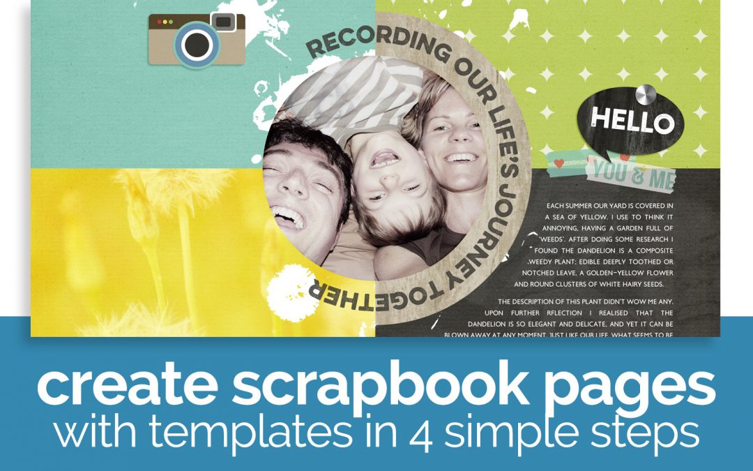 Memory Keeping with Digital Scrapbooking Templates
