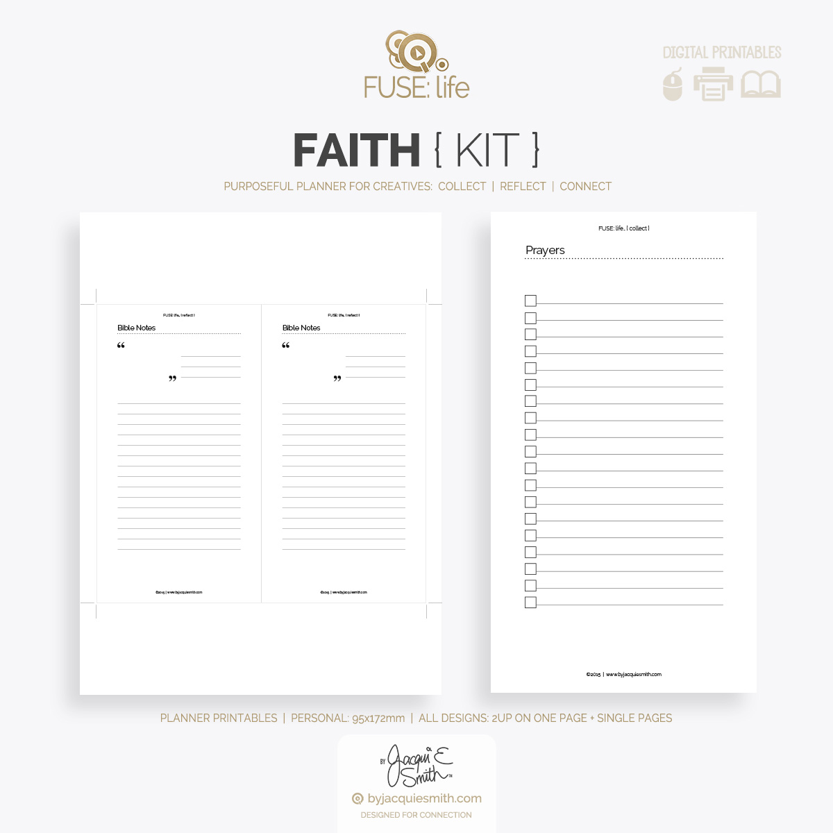 Faith FUSElife printable planer kit at byjacquiesmith.com