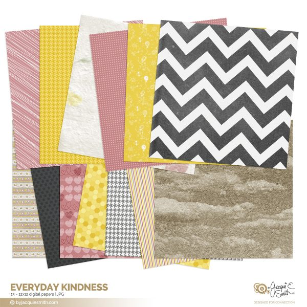 Everyday Kindness digital papers at byjacquiesmith.com