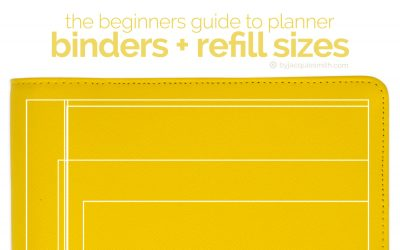 The Beginners Guide to Planner Binders and Refill Sizes