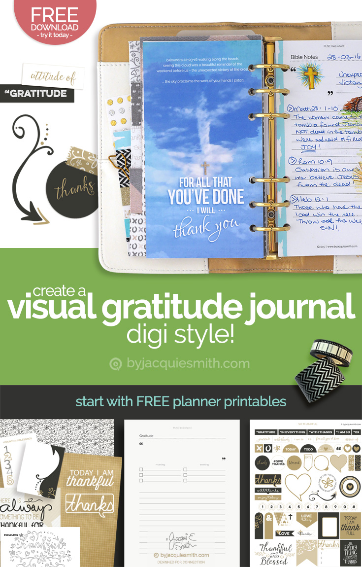 Create a visual gratitude journal ... digi style! at byjacquiesmith.com