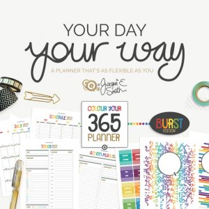 Colour Your 365 Burst Edition planner printables at byjacquiesmith.com