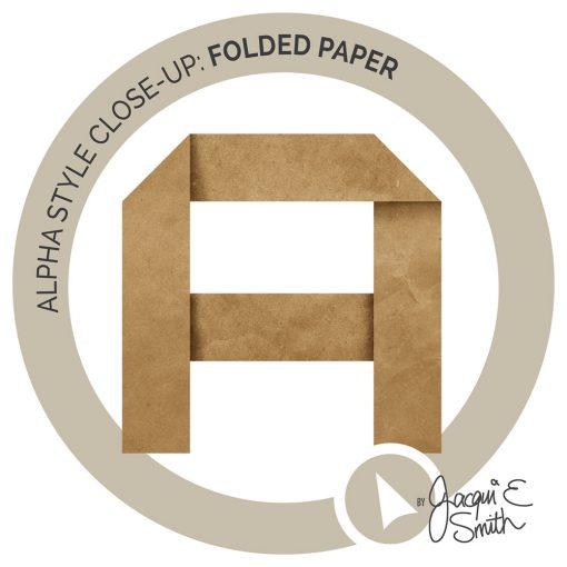 Folded Paper digital alpha at byjacquiesmith.com