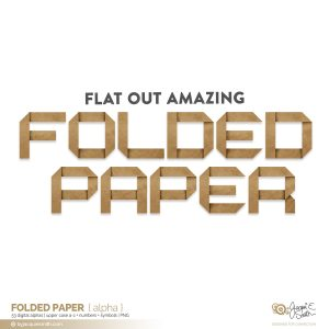 Folded Paper digital alpha at byjacquiesmith.com