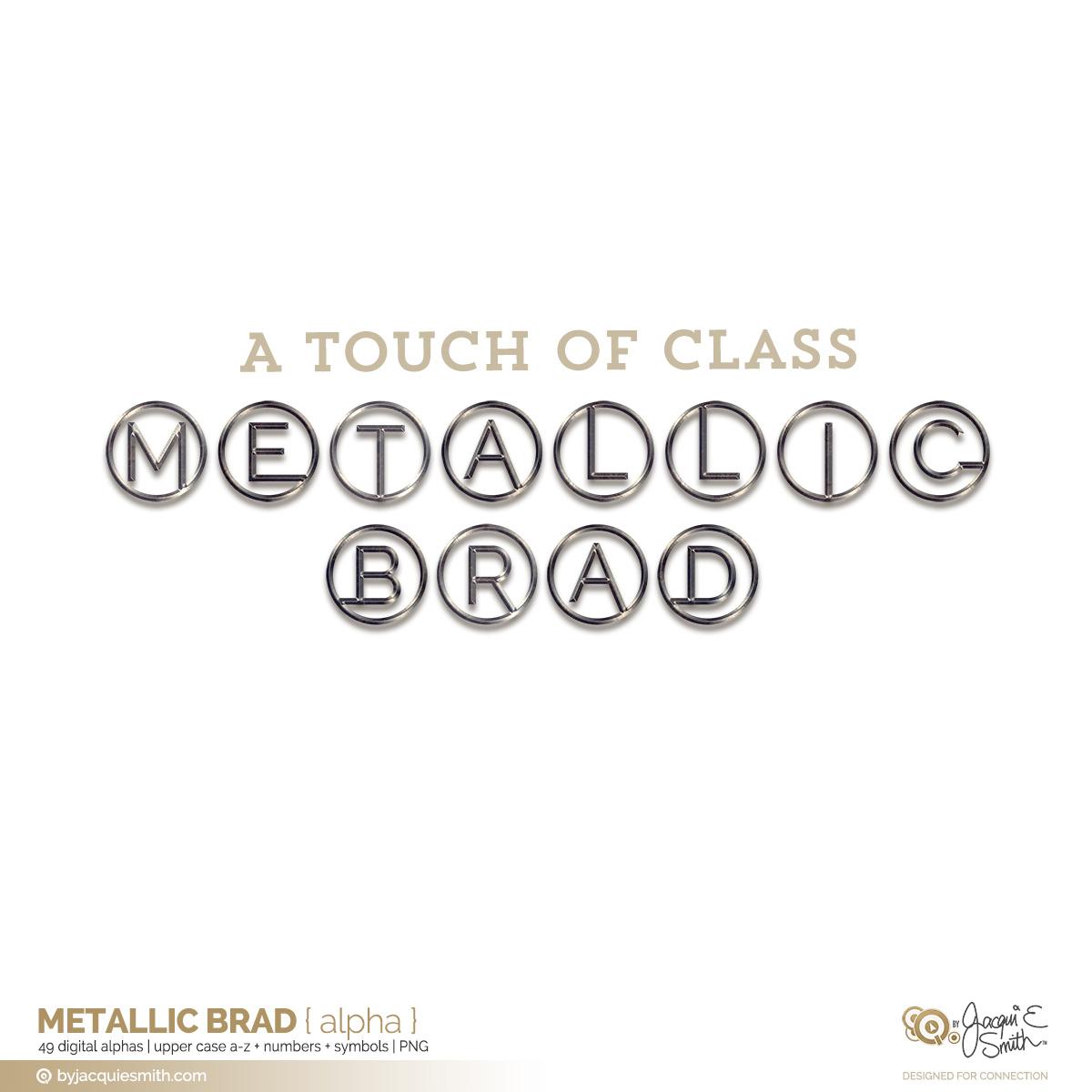 Metallic Brad digital alpha at byjacquiesmith.com