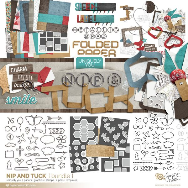 Nip and Tuck bundle of digital craft supplies at byjacquiesmith.com