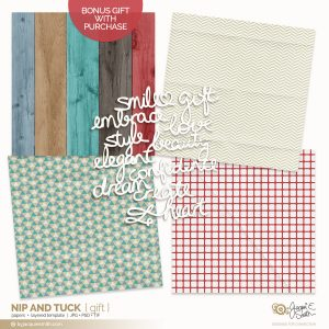 Nip and Tuck digital papers FREE gift with purchase at byjacquiesmith.com