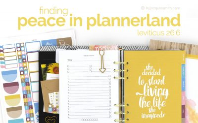 Finding Peace in Plannerland