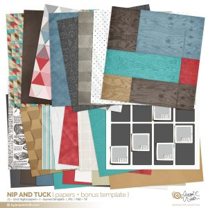 Nip and Tuck digital papers at byjacquiesmith.com