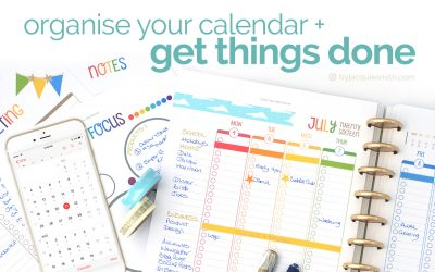 Get Things Done: Organise Your Calendar