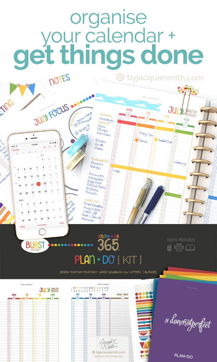 Organise your Calendar + Get Things Done at byjacquiesmith.com